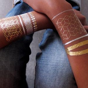 Quality Modern Bracelets handmade Silver Temporary Tattoos / temporary adult tattoos for sale