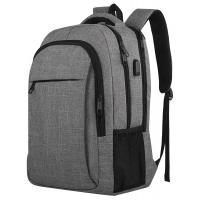 Quality Travel Laptop Backpack,Business grey sports Laptops Backpack with USB laptop bags backpack outdoor camping backpack for sale