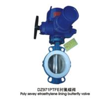 Quality PTFE lining butterfly valve for sale