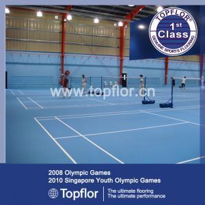 Anti-slip waterproof Indoor PVC Sports Flooring for Badminton court