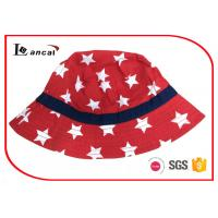 Quality Cotton Twill Fisherman Bucket Hats For Girls With Navy Gross Grain Hatband for sale