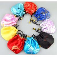 Quality satin drawstring gift pouch bag for sale
