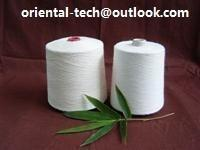 Quality 100% natural bamboo fiber yarn for knitting or for weaving at very reliable quality and eco-friendly for sale