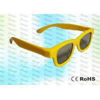 Quality Yellow Ghost And Flicker Free Circular Polarized 3d Glasses For 3D TV Use for sale