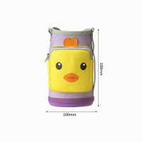 China Custom Insulated Portable Bear Print Hot Milk Baby Bottle Cover on sale