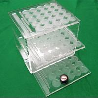 Quality 3 tiers acrylic counter display cosmetic display for sale