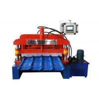 Quality Step Glazed Roof Tile Roll Forming Machine Shaft Diameter ¢70mm 13 Rows Rollers for sale