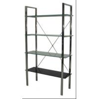 Four Layer Glass Wall Metal Book Shelf , Tall Metal Office Bookshelves