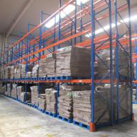 Quality Powder Coating Blue And Orange Warehouse Selective Pallet Racking With Multi Levels for sale