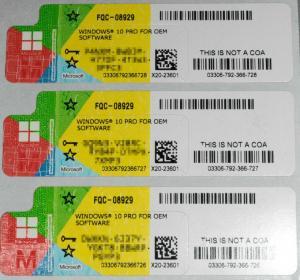 Quality Activation Online COA License Sticker Windows 10 Pro Original Key Print COA Sticker for sale