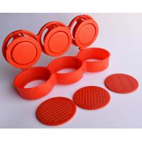 Quality Triple Burger Presses Small Kitchen Tools Mini Red For Three Meat Patties for sale