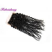 Quality Free Part Lace Silk Base Lace Closure Brazilian Yaki Hair Bleached Knots for sale