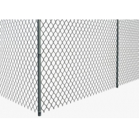 Quality Diamond Wire Mesh Portable 1.0mm Chain Link Galvanized Fence 0.5m Height for sale
