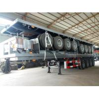 Quality 4 Axles 70 Ton 40ft 45ft Flatbed Container Delivery Semi Truck Trailer , Transportation Trailer for sale