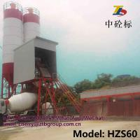 Quality HZS60 ready mixed concrete batching plant for road building and mobile concrete batching plant for sale