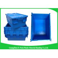 Industrial 50kgs Security Plastic Attach Lid Containers / plastic storage bins with lids