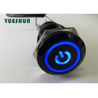 Quality Angle Eye Illuminated Push Button Light Switch 19mm Waterproof OEM ODM Available for sale