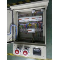 Metal box with industrial power socket outlet