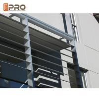 Quality Hurricane - Proof Aluminum Louver Window , Security Jalousie Window for sale