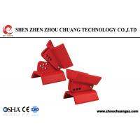 Buy Flame Retardant Red Adjustable Butterfly Valve Lockout with Cable lock at wholesale prices