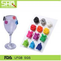 Quality factory directly New Colorful wine bottle silicone glass labels for sale