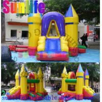 Quality Mini Yellow Inflatable Bouncer Slide Combo , Bouncy Castles With Slide For Fun for sale