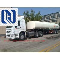 Quality Carbon Steel 20m3 Concentrated Sulfuric Acid Tank Trailer / Hydrochloric Acid Tank Trucks for sale