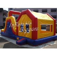 Quality Yellow Kids Inflatable Combo Jumping Bounce Houses Advertisement With Blower for sale