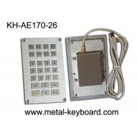 Buy cheap USB or PS/2 Interface Industrial Metal Keypad , 26 Keys Numeric Keypad from wholesalers