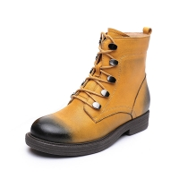 Quality S195 Manufacturers fashion all-match autumn and winter new personality cowhide Martin boots rubber thick sole retro fema for sale