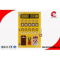 Quality 10-locks lockout center station with hasp and tagout Lockout tagout kits-10 lock board for sale
