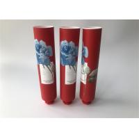 Quality Milk White Red Full Version Of Rose Empty Lotion Tubes With Octagonal Cap for sale