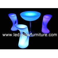 Quality Illuminated High LED Bar Stool with 2000 - 4400mAh rechargeable Lithium Battery for sale