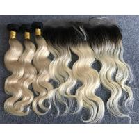 Buy cheap Last Long Russian Ombre Human Hair Extensions Body Wave with Ear to Ear 13