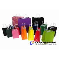 Quality White Kraft Paper Shopping Bags for sale
