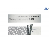 China Tamper Proof VOID Security Labels Silver Label Tape Warranty Labels on sale