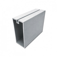 China Aluminum Curtain Wall Profiles Building Exterior Glass Wall Construction Frame Materials on sale
