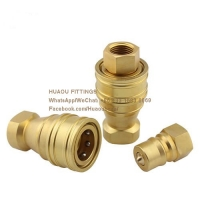Quality Pneumatic and hydraulic quick coupling / interchange hydraulic couplings / Brass ISO B BSP Female plug & carrier for sale
