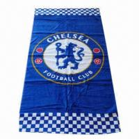Quality Beach Towel, Made of Velor, Reactive Printing, OEM Orders are Welcome for sale