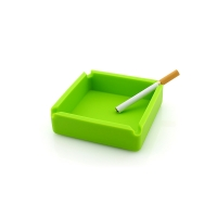 China Heat Resistant Green Cigar Silicone Ashtray on sale