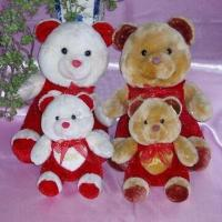 Quality Bear Plush Toys with 100% PP Cotton Filling, Available in Various Colors and Designs for sale