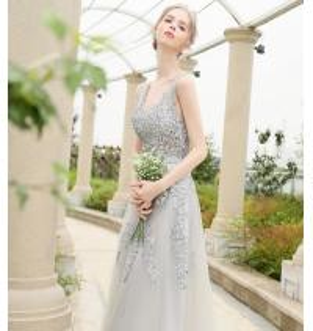 China Elegant court train Appliques sash wedding dress / sleeveless wedding bridal gowns LXHS-1175 on sale