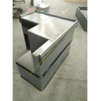 Quality Grey Mini Express Checkout Counter With Add On Counter For Convenient Store for sale