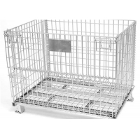 Quality Heavy Duty Powder Coated 800mm Width Wire Mesh Container for sale