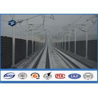 Quality Q345 Steel Material Octagonal Electric Metal Utility Pole for Train Station for sale
