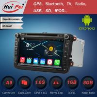 "Quality pure android 4.4 car dvd player with double din car radio for vw passat 8"" capacitive touch screen for sale"
