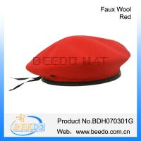 Quality Chic army wool beret red hats for men for sale