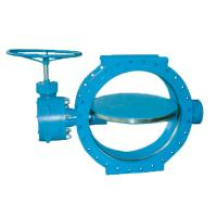 Quality SUFA Brand Large Water Butterfly Valve Manual Double Flanged Metal To Metal Seated for sale