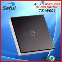 Quality Luxury Tempered glass High intensity Highly Sensitive touch wireless light switch power supply for sale