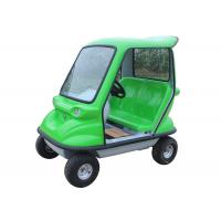 Quality 350 W DC Motor Electric Sightseeing Car With Double Seats Green Lead Acid Traction Battery for sale